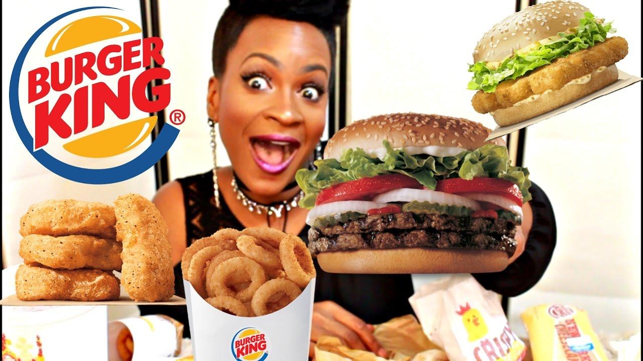 MUKBANG: MY FAVORITE FOODS AT BURGER KING! EAT WITH ME!