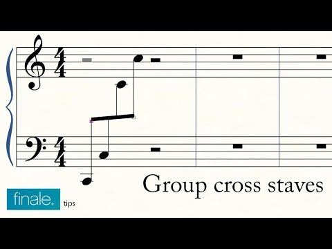 Group cross staves in Makemusic Finale