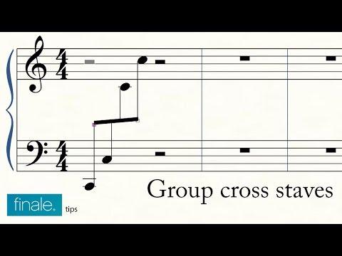 Group Cross Staves In Makemusic Finale