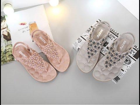 Big Size Women Sandals Shoes Bohemia Flower Summer Women Shoes LX 021