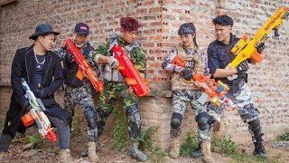 LTT Nerf War : Couple SEAL X Warriors Nerf Guns Fight Crime Group Dr Lee Dangerous Thief