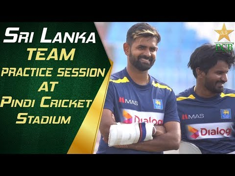 Sri Lanka team practice session at Pindi Cricket Stadium | Pakistan vs Sri Lanka | PCB