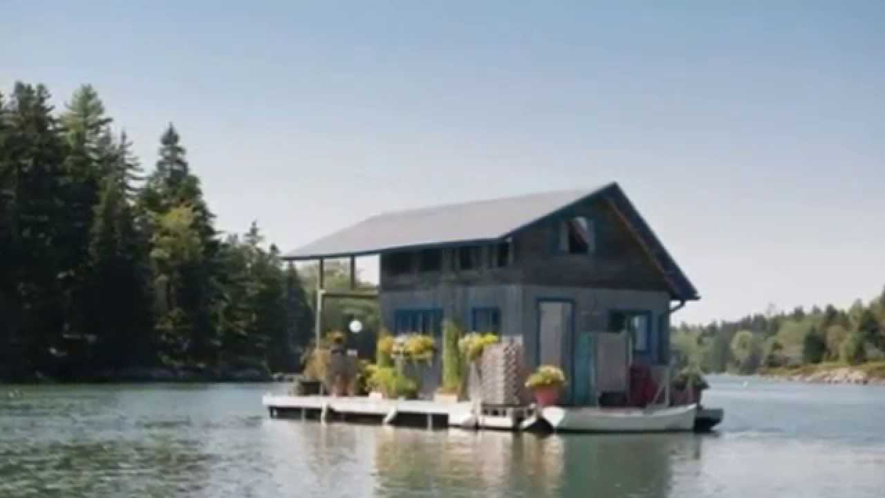 Couple Build Tiny Floating Cottage To Live Simply In Youtube