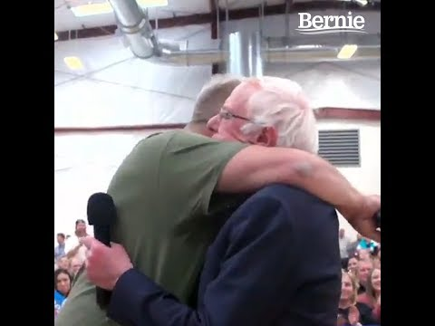 Bernie Reunites with Veteran at Emotional Town Hall