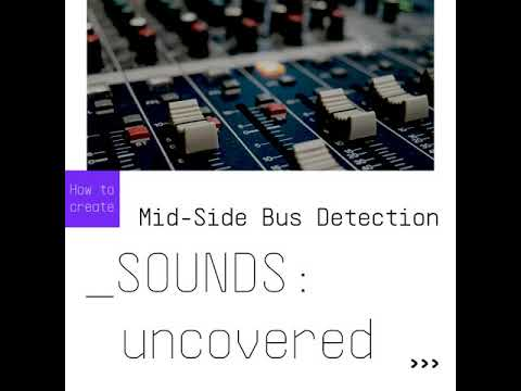 SOUNDS:uncovered  Mid-Side Bus Detection with Come TUBE-Sta