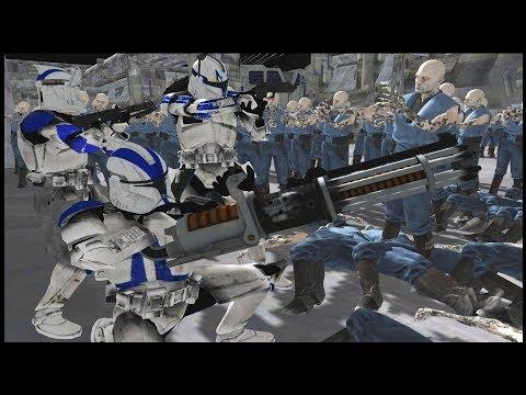 Zombies SWARM Captain Rex's Ship! - Men of War: Star Wars Mod Battle Simulator