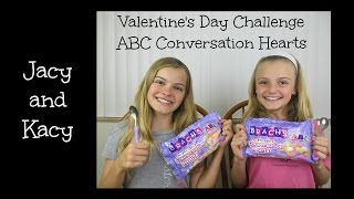 Valentine's Day Conversation Hearts Challenge ~ Jacy And Kacy