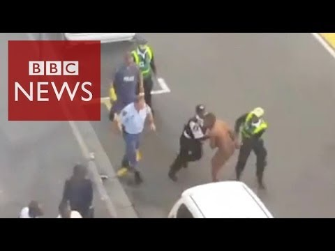 South African police brutality caught on camera #BBCtrending