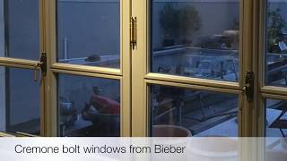 Cremone bolt windows from Bieber