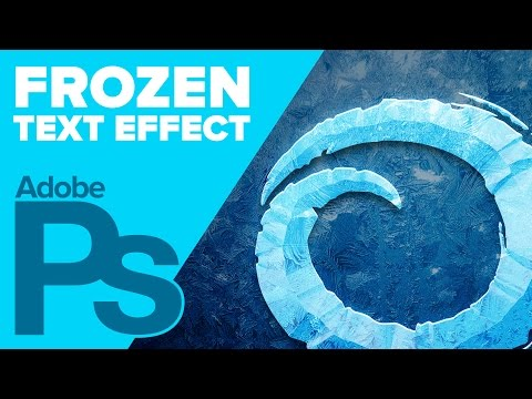 How To Create Disney's Frozen Text In Photoshop