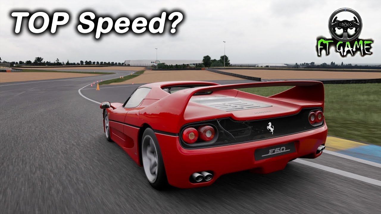 Ferrari F50 Top Speed And Gameplay Gran Turismo Sport Youtube