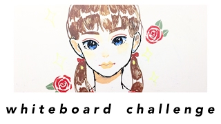 whiteboard drawing challenge + chalkola marker review ♡