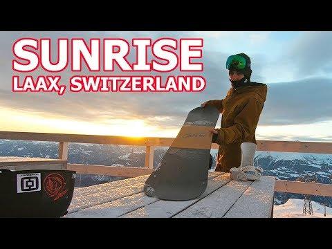 SUNRISE PARK SNOWBOARDING IN LAAX