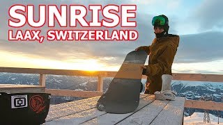 SUNRISE PARK SNOWBOARDING IN LAAX
