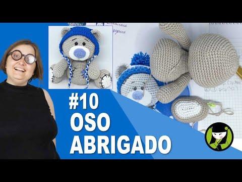 OSO NAVIDEÑO AMIGURUMI 10 oso tejido a crochet