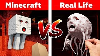 M NECRAFT GHAST  N REAL L FE Minecraft Vs Real Life Animation