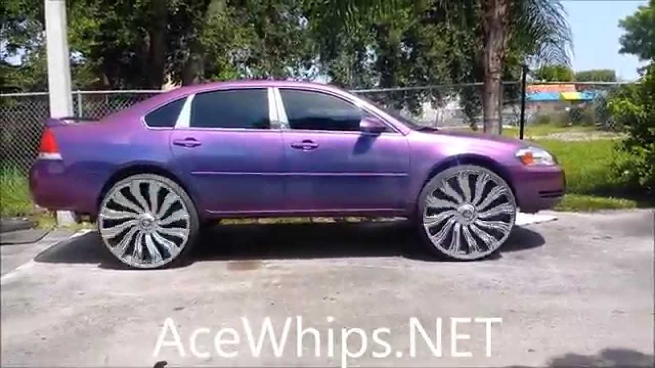 Acewhips Net Outrageous Chevy Impala On 28 Quot Dub Kutz Mega