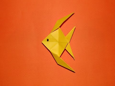 How to make an origami fish 01 youtube for Origami fish instructions