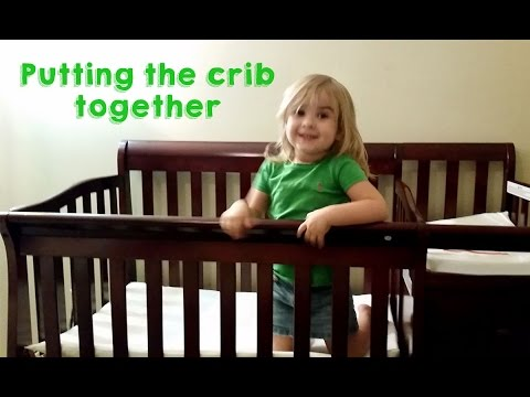 Putting Up The Crib  (Dream On Me Jayden 4-in-1 Portable Convertible Crib with Changer)