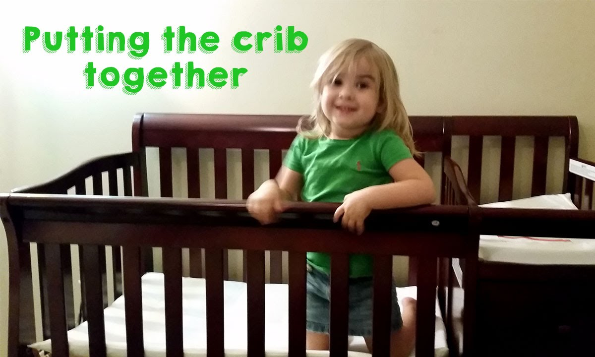Putting Up The Crib (Dream On Me Jayden 4 In 1 Portable Convertible Crib  With Changer)
