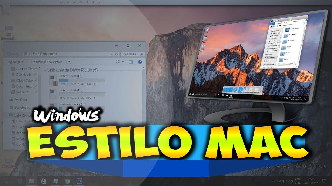 como personalizar windows 7 estilo mac