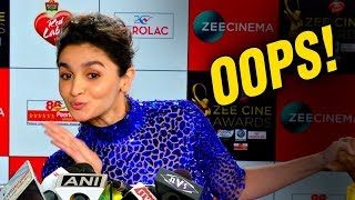 Alia Bhatt OOPS Moment on Zee Cine Awards 2017 Red Carpet