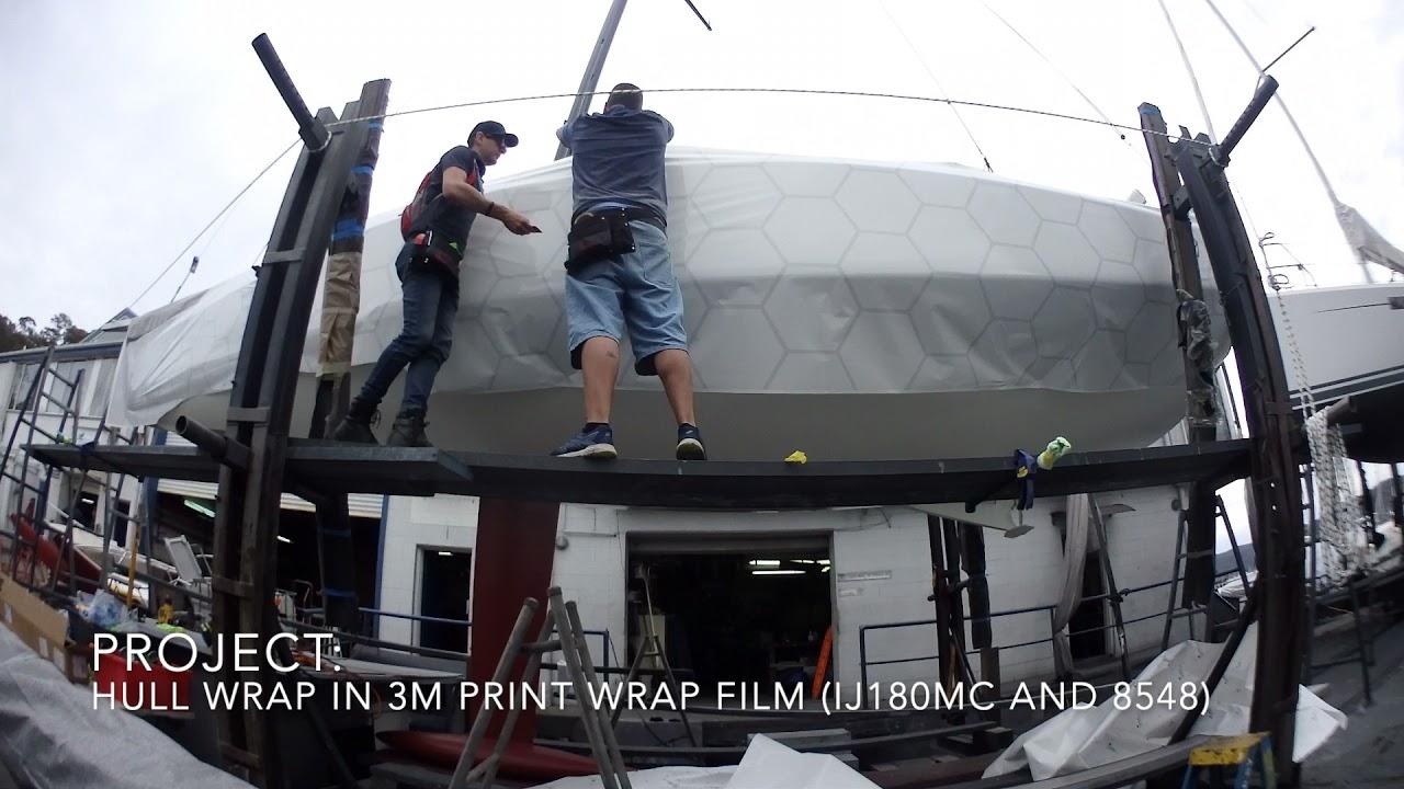 Vinyl Hull Boat Wrap - Dehler 30 in 3M Print Wrap Film
