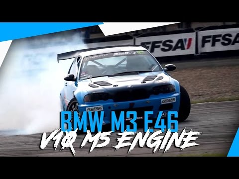 BMW E46 M3 powered by V10 M5 engine - 550 HP - Drift - PURE SOUND