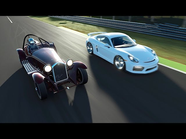 Alfa Romeo 8C 2300 Spider vs Porsche Cayman GT4 - Monza
