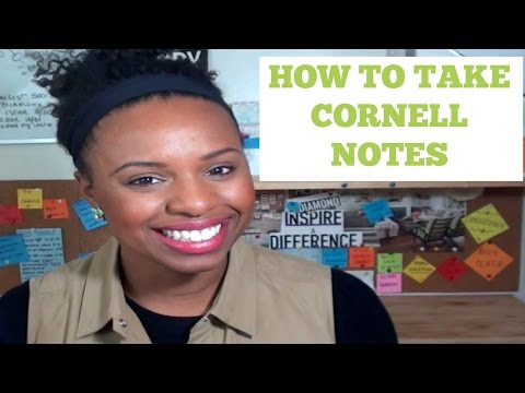 How To: Take Cornell Notes