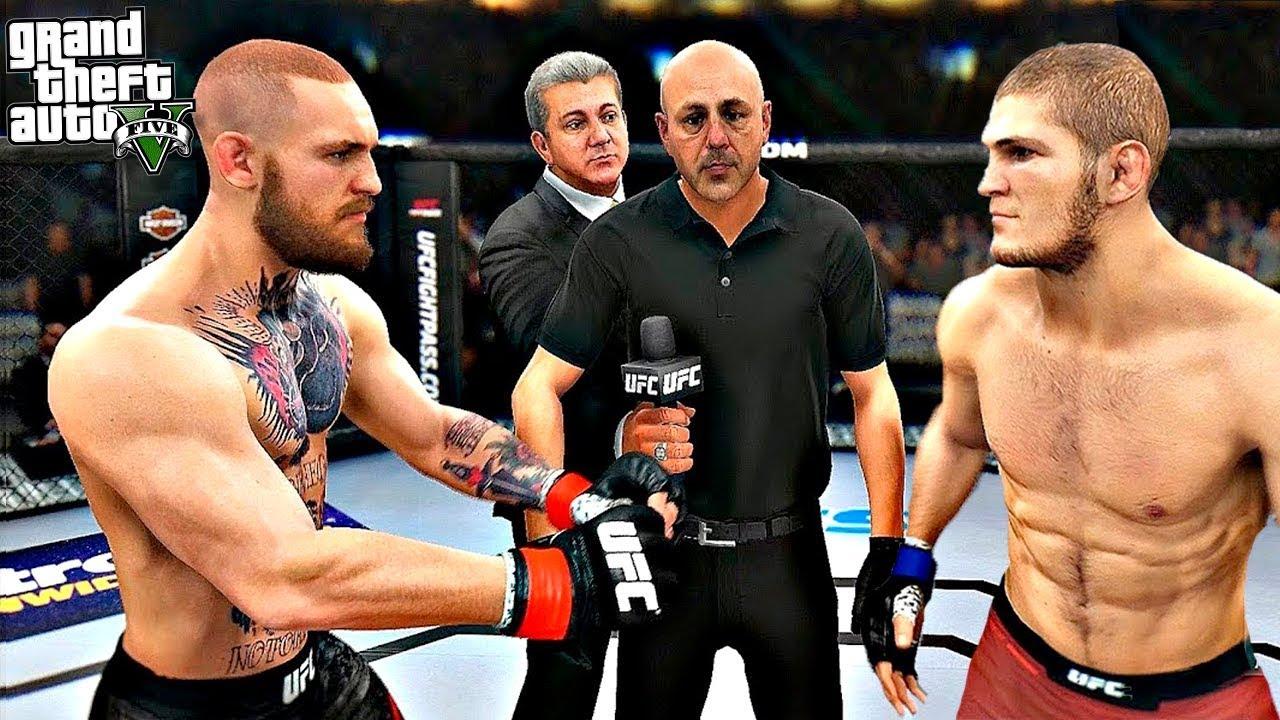ГТА 5 МОДЫ КОНОР МАКГРЕГОР НА БОЯХ БЕЗ ПРАВИЛ UFC! ОБЗОР МОДА В GTA 5! ГТА МОД (GTA 5 Mods)