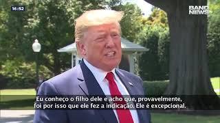 Trump defende a indicação de Eduardo Bolsonaro à embaixada