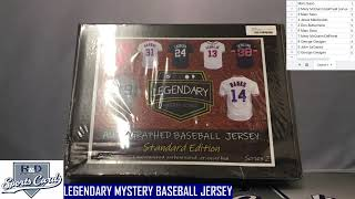 R and D Sports Cards LEGENDARY MYSTERY BASEBALL JERSEY BOX