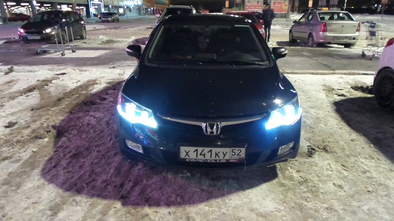 Honda Civic 4D: LED тюнинг фонарей (вариант №1) - YouTube