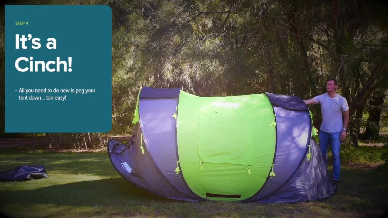Cinch! pop up tents. Putting your Cinch tent up in 30 seconds!  sc 1 st  YouTube & Cinch! pop up tents. Putting your Cinch tent up in 30 seconds ...