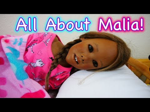 """Silicone Baby Big Sister Malia's """"All About My Baby"""" Tag Video for Pretend Play Roleplay Baby Dolls!"""
