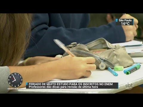 Às vésperas do Enem, estudantes aproveitam feriado para estudar | SBT Brasil (02/11/17)