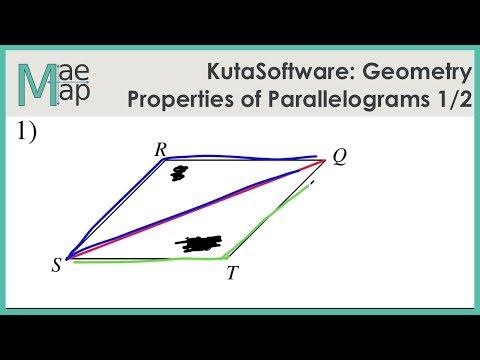 KutaSoftware: Geometry- Properties Of Parallelograms Part 1