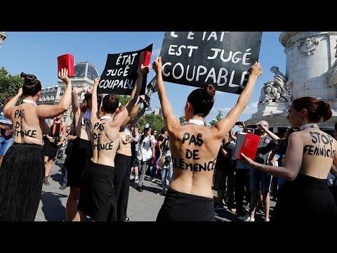 شاهد: احتجاجات وسط باريس للمطالبة بإجراءات فورية ضد قتل النساء…  - 15:53-2019 / 7 / 7