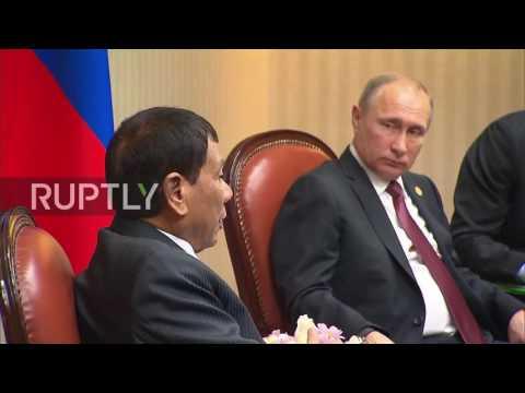 Peru: Putin meets Philippines President Duterte on APEC sidelines in Lima