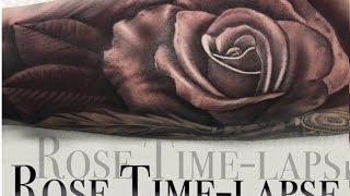 TATTOO TIME LAPSE  / REALISTIC ROSE