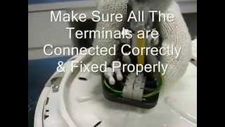 Installation procedures for KDK M60SG Ceiling Fan