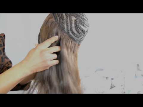 ONE MINUTE TUTORIAL  -  CENTER PARTING WEAVE