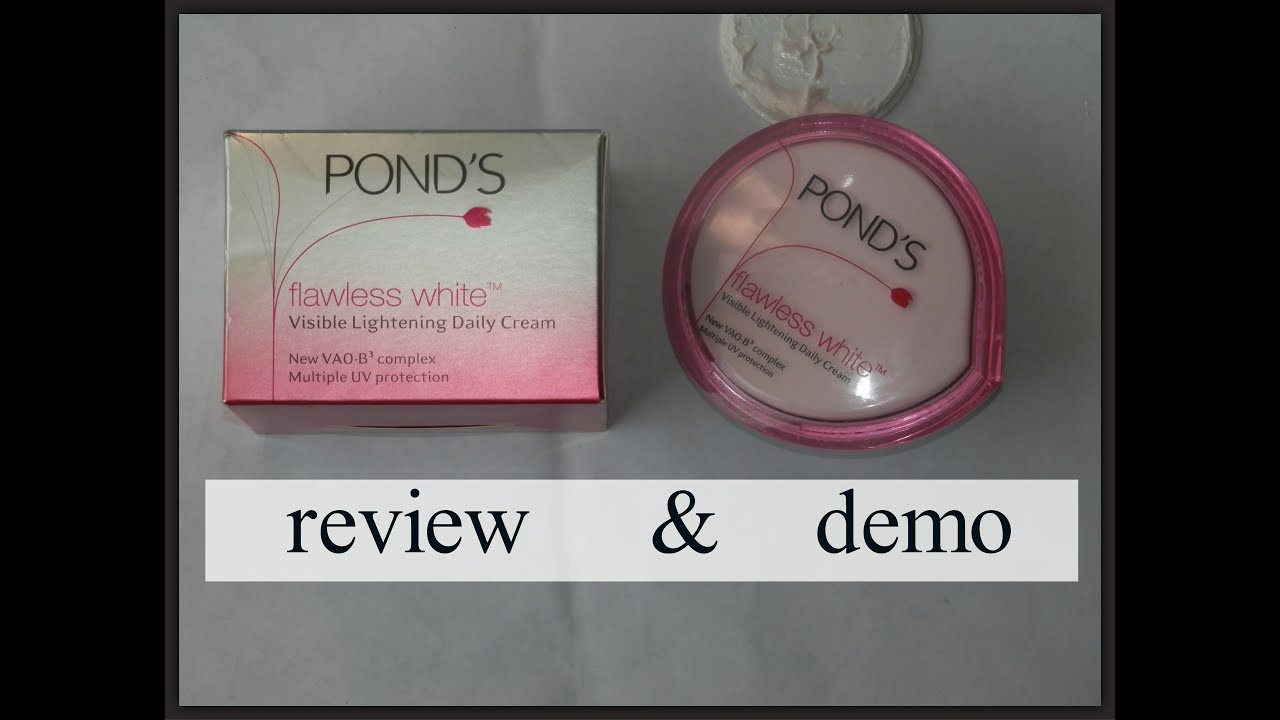 Ponds Flawless White Visible Lightening Daily Creme Review Demo Age Miracle Day Cream Jar 50 G Mylovelylyf Sm Youtube