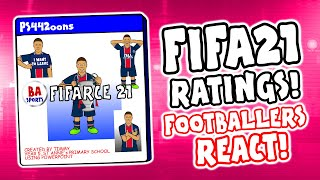 🎮FIFA 21 Ratings - Footballers React!🎮 (Feat Messi, Ronaldo, Neymar, Lewandowski trailer demo)