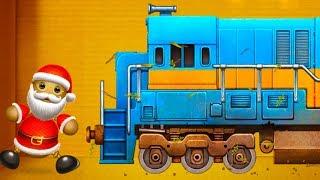 АНТИСТРЕСС ПРОТИВ ПОЕЗДА #8 Что если поезд переедет антистресс - Санта Kick the Buddy #крутилкины