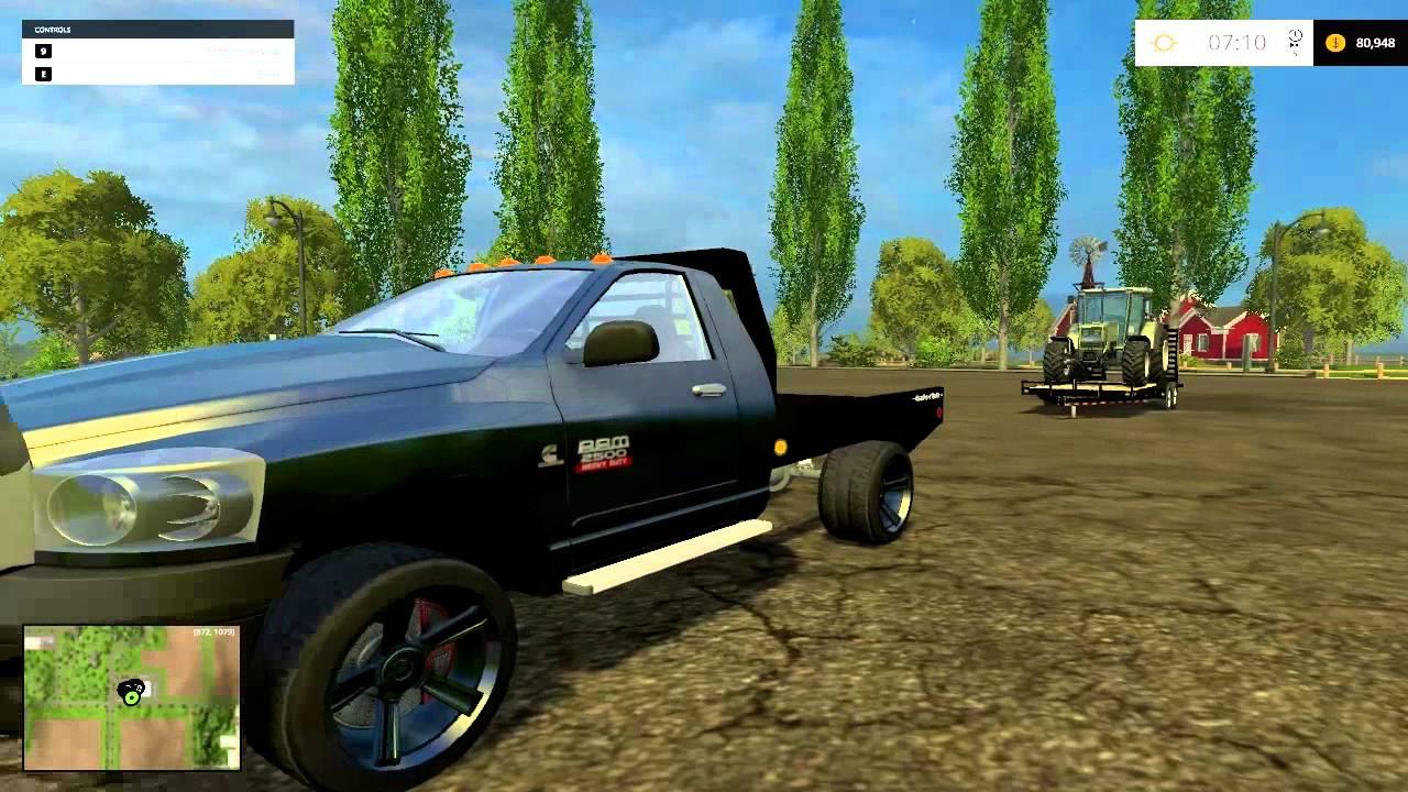 dodge ram flatbed truck mod review farming simulator 2015