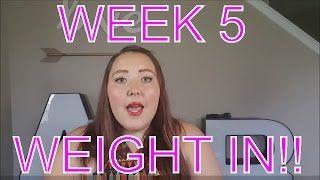 Weight Loss Journey Wk 5 Weigh In   Exercise for Weight Loss