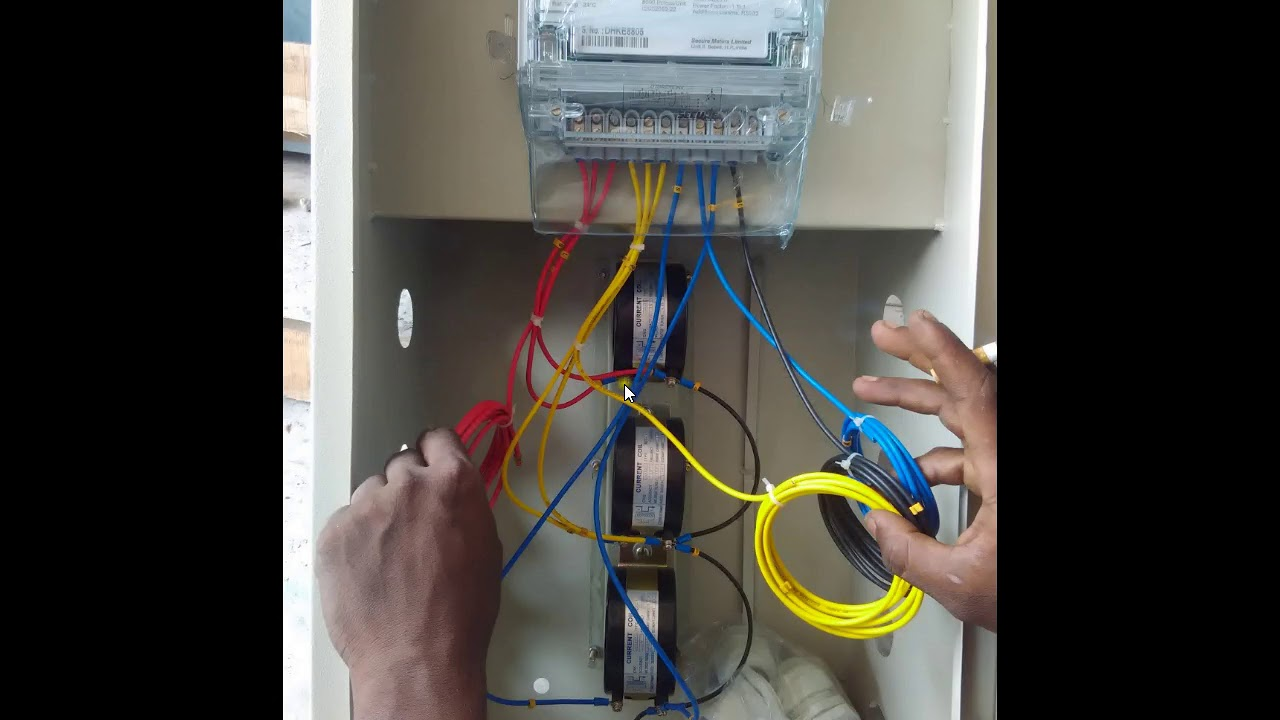 hight resolution of how to connect industrial energy meter ct pt connect with energy meter