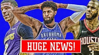 PAUL GERORGE SPOTTED WITH LAKERS! BAD NEWS ABOUT CHRIS PAUL! LAVAR BLAMES LAKERS! | NBA NEWS